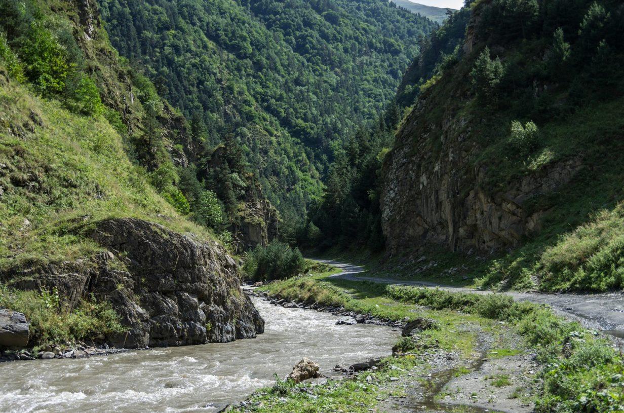Schlucht von Argun in Tschetschnien, Nordkaukasus